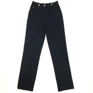 St. John sport trouser pant high rise cotton black